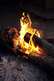 Pożarniczy palenie przy nocą Obraz Stock