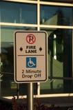 pożarniczy pas ruchu żadny parking Zdjęcia Royalty Free