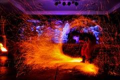 Pożarniczy przedstawienie zdjęcia royalty free