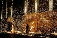 Pożarniczy przedstawienie 20 Zdjęcia Royalty Free