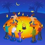 Pożarniczy przedstawienie skład ilustracji