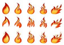 pożarniczy set royalty ilustracja