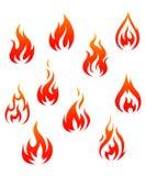 pożarniczy symbole ilustracji