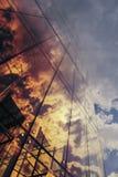 pożarniczy szklany drapacz chmur Fotografia Royalty Free