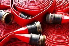 Pożarniczy Wąż elastyczny Zdjęcia Royalty Free