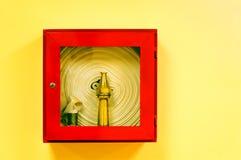 Pożarniczy wąż elastyczny Fotografia Royalty Free
