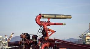 pożarniczy węże elastyczni na holowniku Obraz Royalty Free