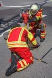 Pożarniczy wojownicy Zdjęcie Stock