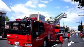 Pożarniczy wojownik, pożarniczy silnik & jednostka straży pożarnej w stażowej akci, zbiory