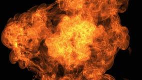 Pożarniczy wybuch kamera z Alfa kanałem ilustracji