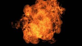 Pożarniczy wybuch kamera z Alfa kanałem royalty ilustracja