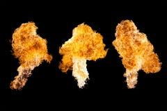Pożarniczy wybuch, odizolowywający na czarnym tle Zdjęcie Royalty Free