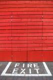 Pożarniczy wyjście Fotografia Stock