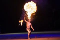 Pożarniczy występ Zdjęcie Stock