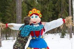 Pożegnalny buziak wizerunek karnawał przy festiwalem zdjęcie stock