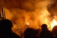 Pożoga, Burning/strażacy /fire/, ludzie na ogieniu Zdjęcia Royalty Free