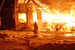 Pożoga, Palić, strażacy/ogień, ludzie na ogieniu Zdjęcie Stock
