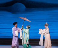 """Pożyczać parasola Opera""""Madame Snake†Białego  obrazy royalty free"""