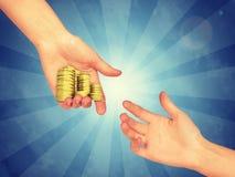 Pożyczanie udział pieniądze Obraz Stock