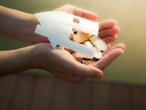 Pożyczka dla kupować dom, hipotekę i inwestyci pojęcie, Obrazy Stock