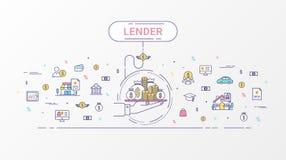 Pożyczkodawcy infographics pojęcie Obraz Royalty Free