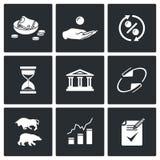 Pożyczkowe ikony również zwrócić corel ilustracji wektora Zdjęcia Stock
