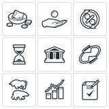 Pożyczkowe ikony również zwrócić corel ilustracji wektora Obrazy Royalty Free