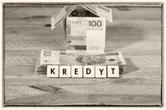 Pożyczkowy pieniądze - Polska waluta Obraz Royalty Free