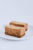 Pożytecznie surowy czekoladowy deser zdjęcia stock