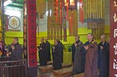 Po林修道院的祈祷的修士 免版税库存照片