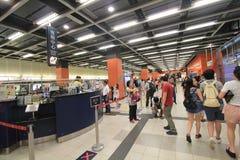 Po潜逃MTR驻地在香港 免版税库存照片