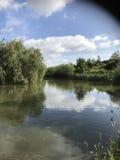 Połów jezioro fotografia stock