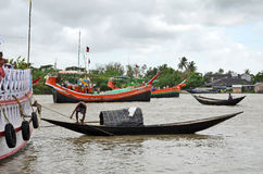 połów wioska India fotografia stock