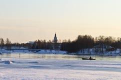połów zima Zdjęcie Royalty Free