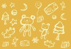 Połówka - brzmienie kreskówki doodle ilustracja wektor