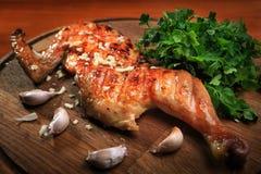 Połówka piec na grillu kurczaka Obrazy Royalty Free