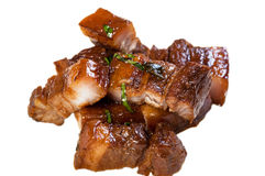 Po ήχων καμπάνας χοιρινό κρέας με το βρασμένο στον ατμό κουλούρι mantou Στοκ Εικόνες