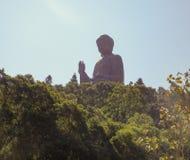 po μοναστηριών lin του Βούδα γιγαντιαίο άγαλμα Στοκ Φωτογραφίες