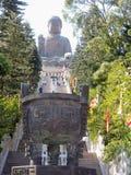 po μοναστηριών lin του Βούδα γιγαντιαίο άγαλμα Στοκ Εικόνα