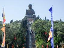 po μοναστηριών lin του Βούδα γιγαντιαίο άγαλμα Στοκ Εικόνες