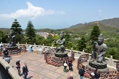 po μοναστηριών lin του Βούδα γιγαντιαίο άγαλμα Στοκ φωτογραφίες με δικαίωμα ελεύθερης χρήσης