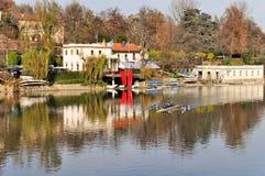 po πάρκων όψη valentino ποταμών Στοκ εικόνες με δικαίωμα ελεύθερης χρήσης