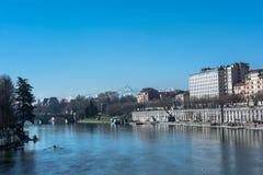 Po ποταμός στο Τορίνο, Ιταλία Στοκ φωτογραφίες με δικαίωμα ελεύθερης χρήσης