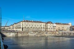 Po ποταμός στο Τορίνο, Ιταλία Στοκ Εικόνα