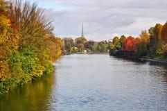Po ποταμός στο Τορίνο Στοκ Φωτογραφίες
