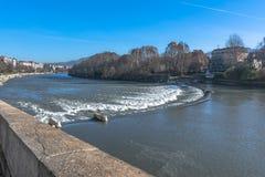 Po ποταμός, Τορίνο, Ιταλία Στοκ φωτογραφίες με δικαίωμα ελεύθερης χρήσης