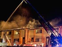 pożar budynku Obrazy Royalty Free