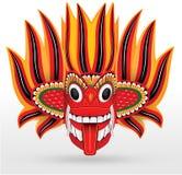 Pożarnicza maska - Drewniana maska od Sri Lanka Obrazy Royalty Free