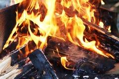 Pożarnicza palenie bela Fotografia Royalty Free