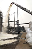 pożarnicza rafineria Obrazy Stock